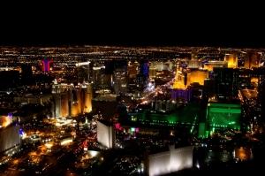 Image of beautiful Las Vegas city at night